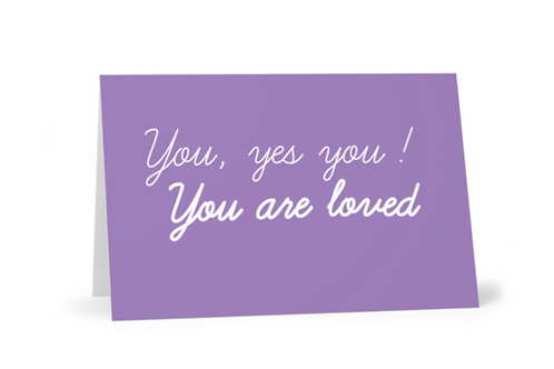 You are loved Christian Greetings Cards by Stay Lit Apparel for Birthdays, Christmas, Gifts, Holidays