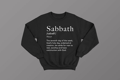 Sabbath Definition Christian Crewneck Sweater Stay Lit Apparel Christian Clothing UK Brand