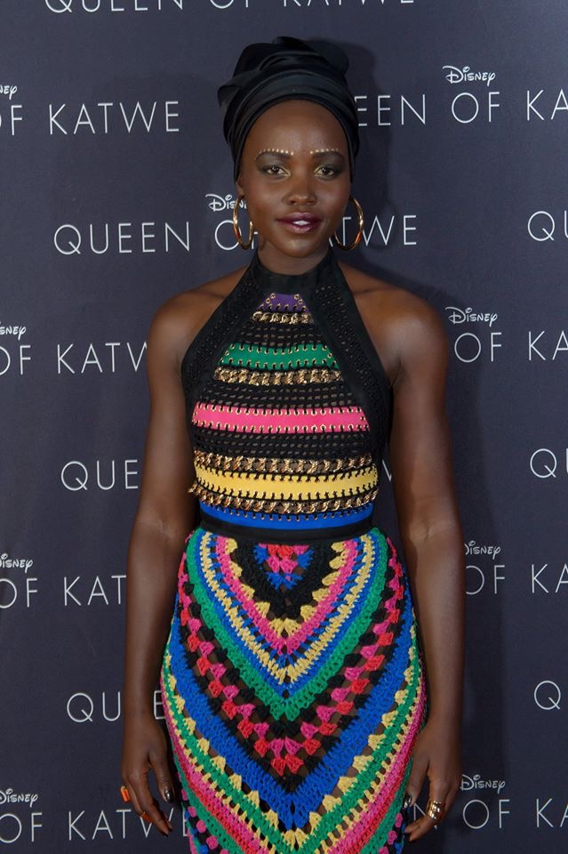 The History of the Headwrap Asikara by Laura Jane, Lupita Nyong'o in a headwrap