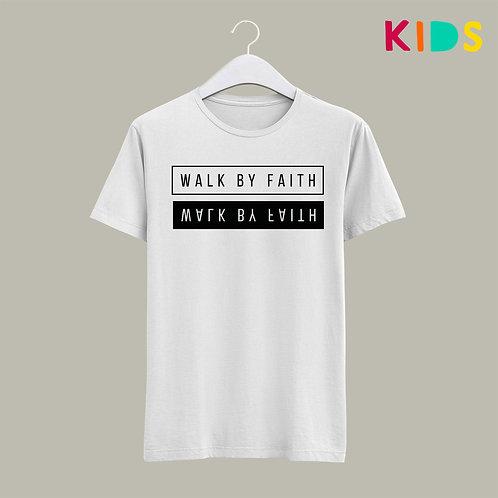 Walk by Faith Bible Verse Kids Christian T-shirt by Stay Lit Apparel UK