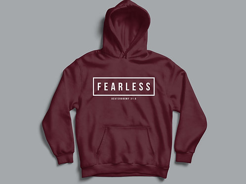 Fearless Christian Bible Verse Hoodie Christian Apparel by Stay Lit Apparel UK