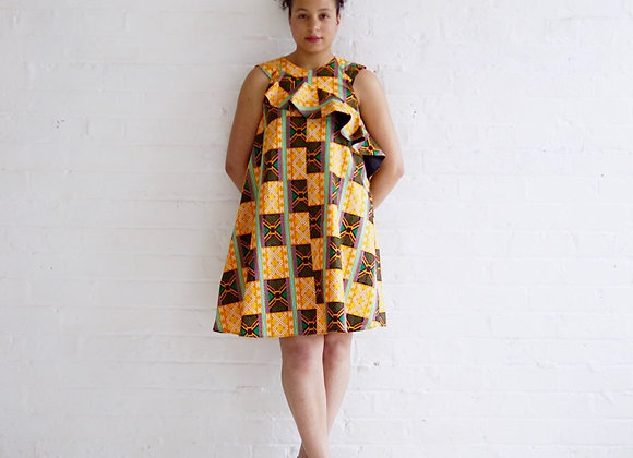 Sika African Print Shift Dress