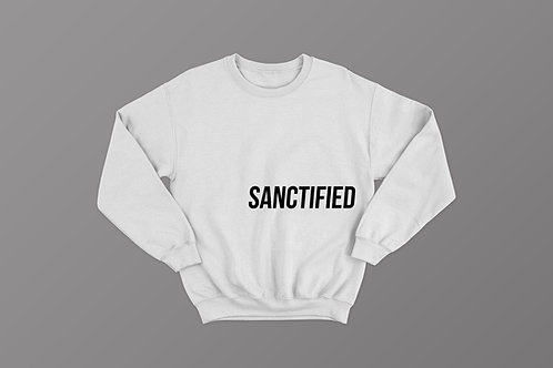 Sanctified Christian Sweatshirt by Stay Lit Apparel, Christian Clothing UK