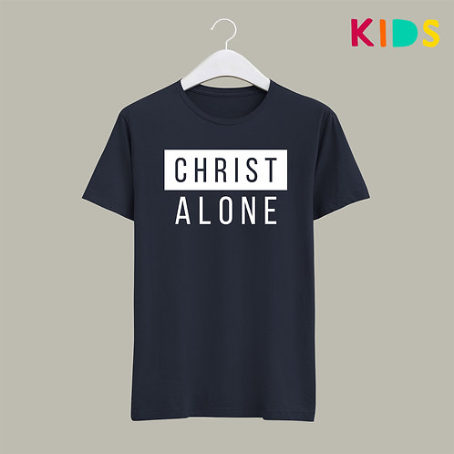 Christ Alone Kids T-shirt Stay Lit Apparel UK Christian Clothing Brand
