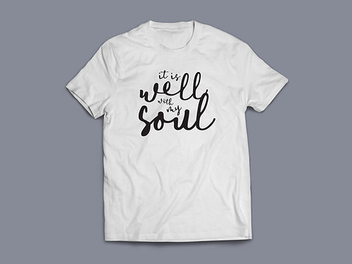 It is well with my soul Christian hymn t-shirt UK