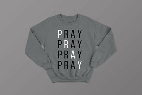 Pray without ceasing Christian Sweatshirt Clothing by Stay Lit Apparel UK