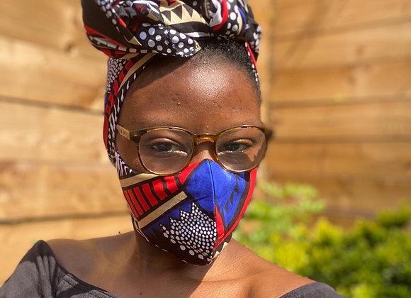 African print Face Mask UK Asikara Handmade African Print Mask