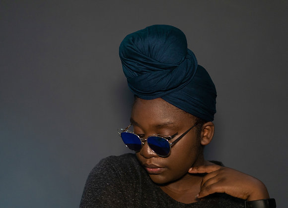 Teal Jersey Headwrap, Headwraps UK, Stretchy Headwraps, Soft Stretch Headwraps UK, High Quality, Asikara by Laura Jane