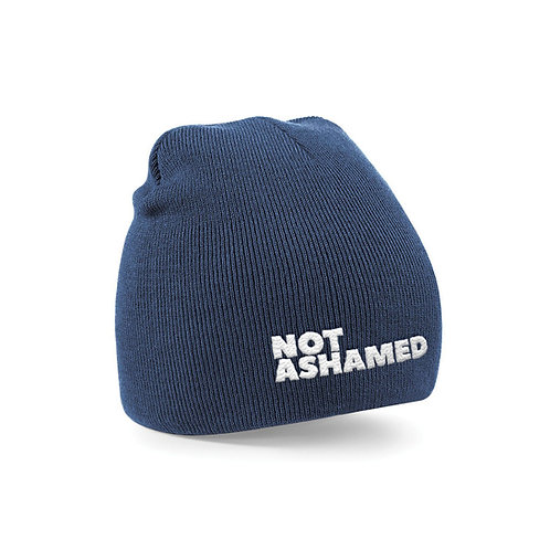 Not Ashamed Beanie Christian Hat Christian Accessories Christian Clothing Stay Lit Apparel
