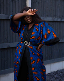 Zamara African Print Kimono