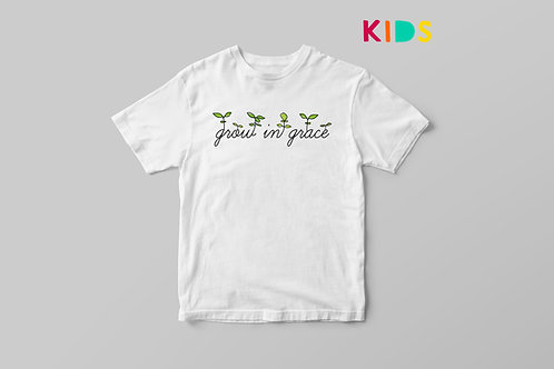 Grow in grace Kids T shirt, Growing in Grace Christian T shirt, Children's T shirt