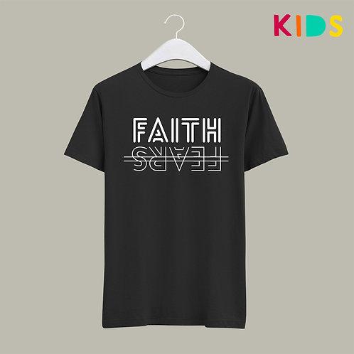 Faith over Fear Christian T-shirt Kids Children's Christian Clothing Stay Lit Apparel UK