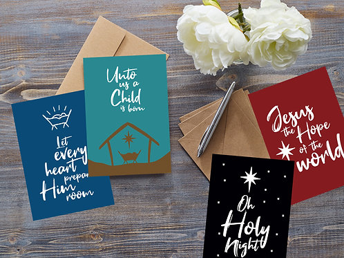 Christian Christmas Cards (Assorted Pack)