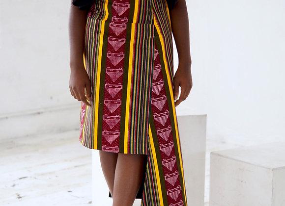 African Wax Print Skirt