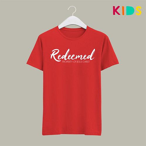 Redeemed Children's Christian T-shirt Stay Lit Apparel UK Christian Clothing