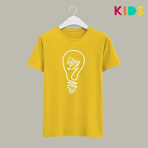 Stay Lit Christian Kids T-shirt Light of the World UK Christian Clothing