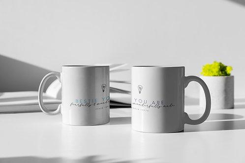 Psalms Mug Christian Clothing Brand Fearfully and Wonderfully Made personalised Mug