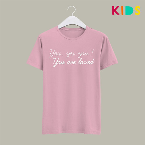 You are loved Christian Words of Affirmation Kids T-shirt Love Kids T-shirt by stay lit apparel uk