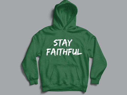 Stay Faithful Christian Hoodie by Stay Lit Apparel Christian Clothing Brand UK