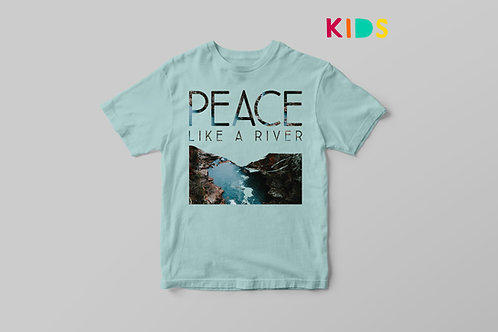 Peace Like A River Christian T shirt for Kids, Stay Lit Apparel UK