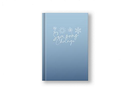 Seasons Change Blue Christian Notebook