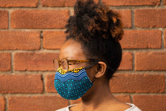 African Print Face Mask with Adjustable Elastic