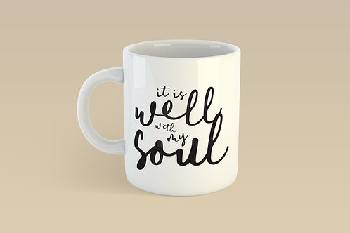 It is well with my soul hymn mug, Bible verse mug, Christian mug, Christian coffee lover, Christian gifts