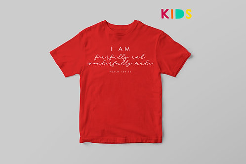 Fearfully and Wonderfully Made Kids Christian T-shirt by Stay Lit Apparel UK