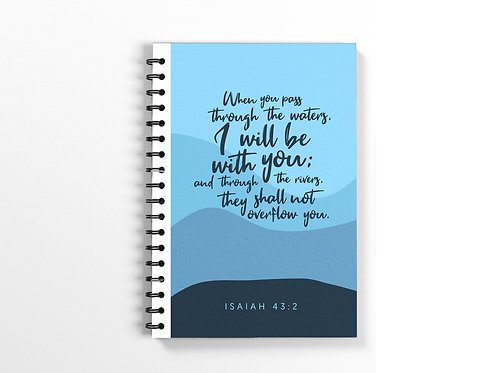 I will be with you Bible Verse Notebook