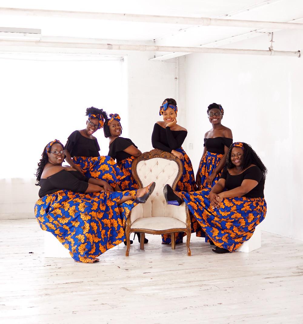 Bridesmaids in Asikara African Print