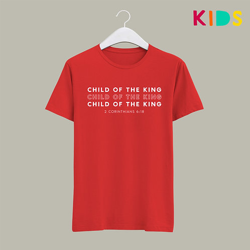 Child of the King Christian Bible Verse T-shirt for Kids Stay Lit Apparel UK Clothing