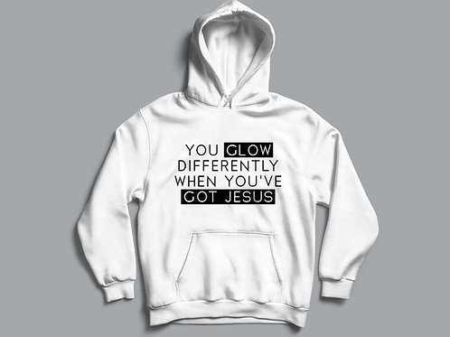 You Glow Differently When You've Got Jesus Hoodie, Unisex Hoodie, Christian Hoodie, Gift for Men and Women, Stay Lit Apparel