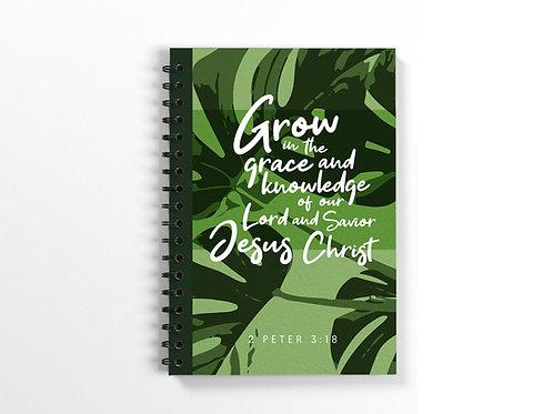 Grow in Grace Bible Verse Notebook