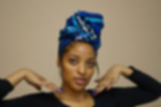 Blue African Print Headwrap UK