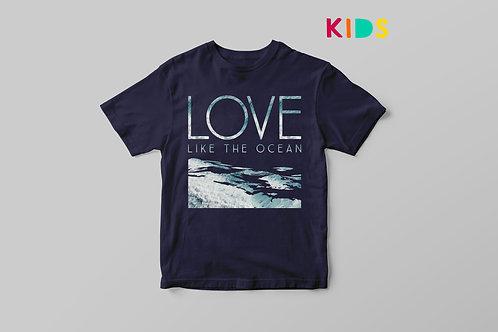 Love like the ocean Christian T shirt for Kids, Love Kids T shirt, Stay Lit Apparel UK