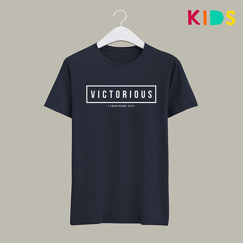 Victorious Kids Christian T-shirt by Stay Lit Apparel UK