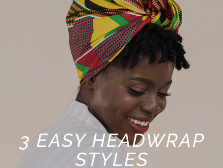 3 Easy Headwrap Tutorials with Videos