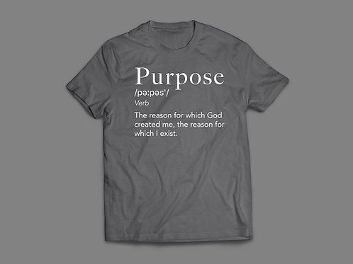 Grey Purpose Definition Christian T-Shirt UK by Stay Lit Apparel