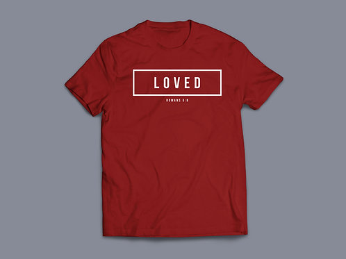 Loved Christian Bible Verse T-shirt Christian Apparel by Stay Lit Apparel UK