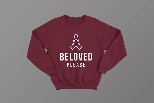 Beloved Please Christian Meme Sweater Stay Lit Apparel UK Christian Clothing