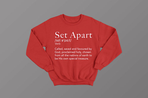 Set Apart Definition Christian Sweatshirt by Stay Lit Apparel Christian Clothing Brand