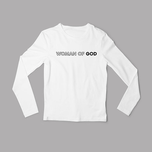 Woman of God Christian Long Sleeved T-Shirt by Stay Lit Apparel Christian Clothing Brand UK