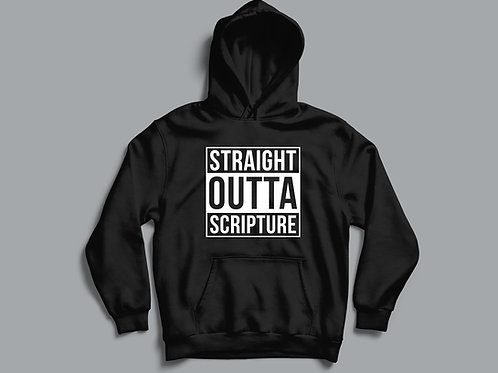 Straight outta Scripture Hoodie Bible Clothing by Stay Lit Apparel UK