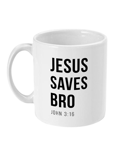 Jesus Saves Bro Mug