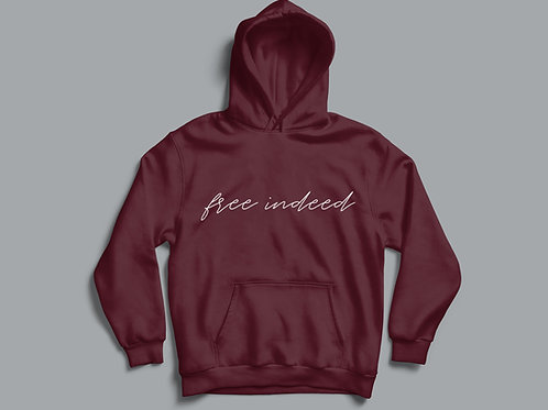 Free Indeed Christian Hoodie by Stay Lit Apparel Christian Clothing Brand UK