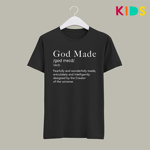God Made Kids T-shirt Definition Christian Clothing UK Stay Lit Apparel