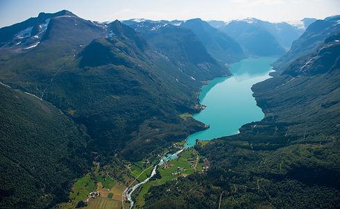 Lovatnet lake  Loen  Nordfjord, Norway
