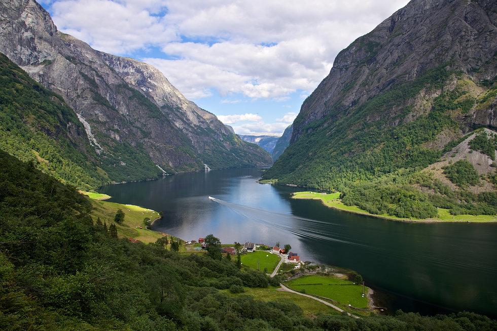 Naeroyfjord, Sognedal, Norway