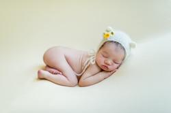 bum up pose for newborn baby