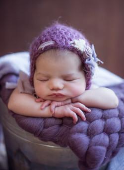 purple hat for newborn baby